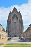 Kopenhagen, Denemarken. De Kerk van Grundtvig royalty-vrije stock foto