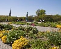 Kopenhagen, Denemarken - Langelinie-park met het monument van Princ royalty-vrije stock foto's