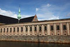 Kopenhagen in Denemarken met beroemde gebouwen en plaatsen stock fotografie