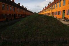 Kopenhagen in Denemarken met beroemde gebouwen en plaatsen royalty-vrije stock foto's