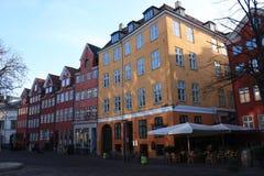 Kopenhagen, Denemarken, Skandinavische stad en architectuur stock fotografie