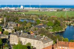 Kopenhagen Flächen mit Blick auf Freetown Christiania Stockfoto