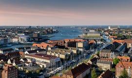 Kopenhagen-Flächenansicht-innerer Hafen und Kanäle Lizenzfreie Stockfotografie