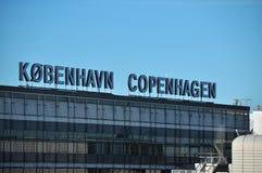Kopenhagen-Flughafenzeichen, Dänemark Stockbilder