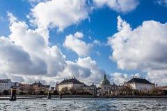 Kopenhagen-Flusskreuzfahrtansicht Lizenzfreies Stockfoto
