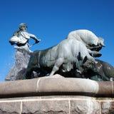 Kopenhagen, Gefion-fontein Stock Afbeelding