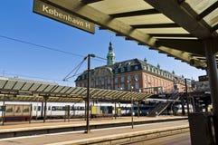 Kopenhagen-Hauptleitungs-Bahnstation Stockfoto