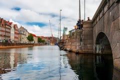 Kopenhagen Kanal Royalty-vrije Stock Afbeelding
