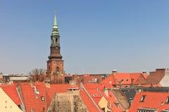 Kopenhagen-Kirchturm Stockbilder