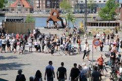 KOPENHAGEN-MARATHON 2018 42 ILIOMETER Stockfoto