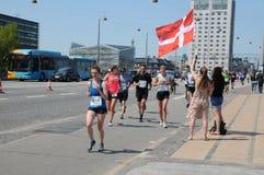 KOPENHAGEN-MARATHON 2018 42 ILIOMETER Lizenzfreie Stockfotos