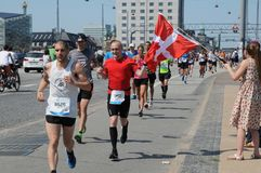KOPENHAGEN-MARATHON 2018 42 ILIOMETER Lizenzfreie Stockbilder