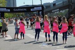 KOPENHAGEN-MARATHON 2018 42 ILIOMETER Stockfotografie