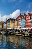 Kopenhagen nyhaven Lizenzfreies Stockbild