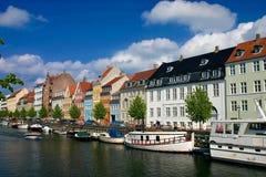 Kopenhagen nyhaven Lizenzfreie Stockfotos