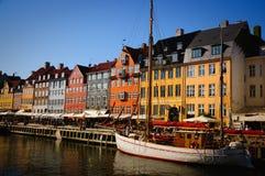 Kopenhagen nyhavn Stockfotos