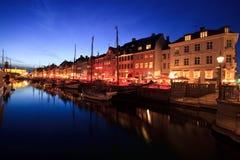 Kopenhagen - Nyhavn Royalty-vrije Stock Foto's
