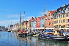 Kopenhagen, Nyhavn Stock Afbeelding