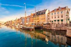 Kopenhagen, Nyhavn stockbild