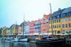 Kopenhagen, Nyhavn denemarken royalty-vrije stock afbeelding