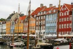 Kopenhagen - Nyhavn - der alte Hafen Lizenzfreies Stockfoto