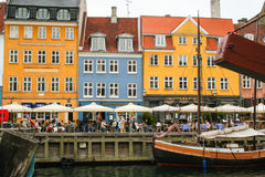 Kopenhagen - Nyhavn - der alte Hafen Lizenzfreies Stockbild