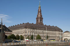 Kopenhagen Slotsholmen丹麦议会Christiansborg 库存照片