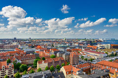 Kopenhagen-Sommerpanorama stockbilder
