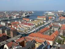 Kopenhagen van de mening van het vogelsoog Stock Foto