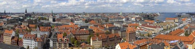 Kopenhagen van hierboven. Kopenhagen. Denemarken Royalty-vrije Stock Fotografie