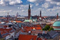 kopenhagen Vogelperspektive der Stadt lizenzfreie stockfotografie