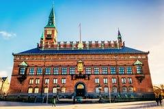 KopenhagenRathaus ist die Hauptsitze der Stadtverordnetenversammlung sowie des Bürgermeisters des Kopenhagen-Stadtbezirkes lizenzfreies stockfoto
