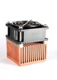 Koper heatsink Stock Foto's