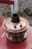 Koper hotpot stock afbeelding