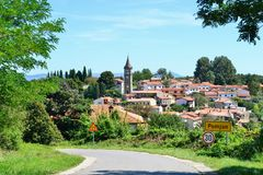 Koper Słoweński Istra - Wycieczkujący i jechać na rowerze Fotografia Royalty Free