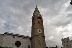 Koper Slovenia. Medieval city tower at Koper Slovenia royalty free stock photo
