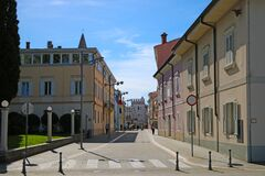 Koper, Slovenia, September 26, 2019: Small streets and houses on a sunny day