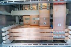 Koperbusbar Royalty-vrije Stock Foto's