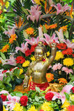 Koperstandbeeld van Boedha Royalty-vrije Stock Afbeeldingen