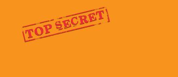 koperta top secret obrazy stock