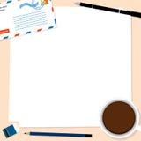 Kopertowy kawowy notepad przestrzeni papieru wektor Fotografia Royalty Free