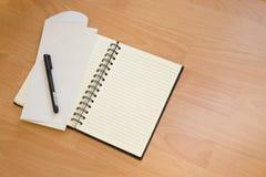 kopertowy notatnik Fotografia Royalty Free