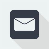 kopertowy płaski projekt, emaila projekt, poczta projekta ikona Obrazy Stock