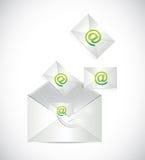Kopertowy pełny emaila ilustracyjny projekt ilustracja wektor