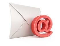 Koperty i emaila symbol Fotografia Stock