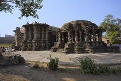 Kopeshwar tempel Vänstra sidan sköt länge Khidrapur Kolhapur, Maharashtra, Indien Royaltyfria Bilder