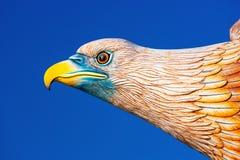 Kopf der Adlerstatue bei Eagle Square Langkawi, Malaysia Stockfotografie