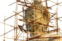 Kopf der Buddha-Statue Stockfotos