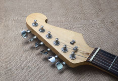 Kopf der elektrischen Gitarre Stockfoto