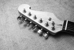 Kopf der elektrischen Gitarre Lizenzfreies Stockfoto